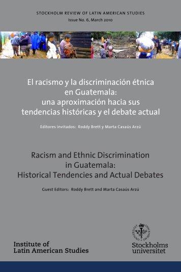 Racism and Ethnic Discrimination in Guatemala - Institute of Latin ...