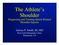 Management of Sports Related Shoulder Injuries - Bon Secours ...