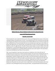 Matlock Racing's: Wayne Matlock Finishes 3rd ... - Elka Suspension
