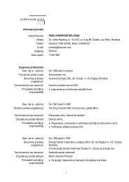 Informaţii personale Nume/Prenume RADU GHEORGHE BOLOGAN ...