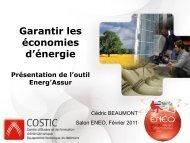 Garantir les économies d'énergie Présentation de l'outil Energ'Assur