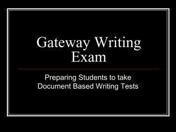 Prepare for the Writing Exam - South Gwinnett High School