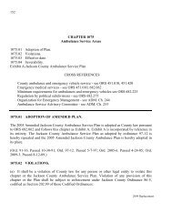 CHAPTER 1075 Ambulance Service Areas - Jackson County Oregon