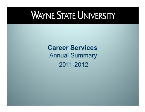 Career Services Wsu Career Services Wayne State University