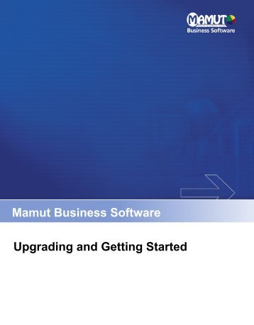 Upgrading and Getting Started guide - Mamut