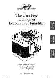 The Care Free® Humidifier Evaporative Humidifier - Hunter Fan