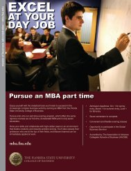mba part time brochure 11.15.11.pdf - College of Business - Florida ...