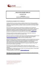 Aanvraagsjabloon accreditatie obv internationaal - NVAO