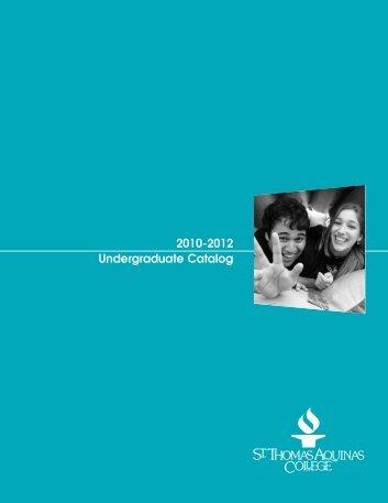 Undergraduate 2010-12 - St. Thomas Aquinas College