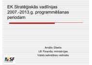 Prezentācija par Kopienas stratēģiskajām vadlīnijām - ES fondi