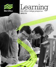 College prospectus for print (PDF, 4 MB) - Met Office