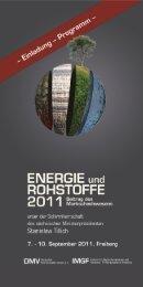Programm und Einladung - Energie und Rohstoffe 2011