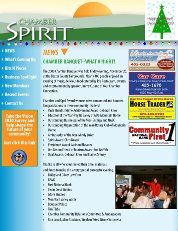 CHAMBER BANQUET--WHAT A NIGHT! - Mountain Home Area ...