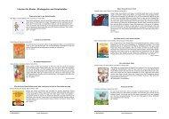 Literatur für Kinder - Kindergarten und Vorschulalter - Rainbows