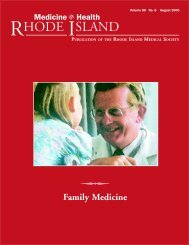 Family Medicine - Rhode Island Medical Society
