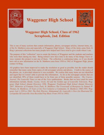 Waggener High School - RingBrothersHistory.com