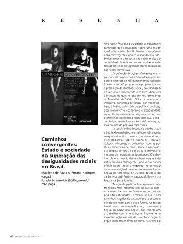Caminhos convergentes: Estado e sociedade na superação ... - Ibase