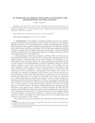 AN APPROACH TO MINIMAL BIT RATES AND ... - MTNS 2012