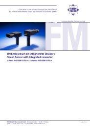 Drehzahlsensor mit integriertem Stecker / Speed Sensor with ...