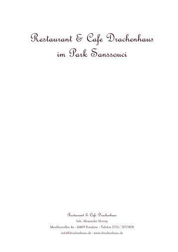 Speisekarte 2012 Winter.indd - Restaurant & Café Drachenhaus