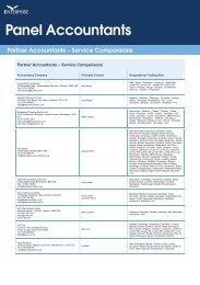 Partner Accountants – Service Comparisons - Enterprise Inns