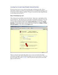 Accessing Your Account Using Webmail (Advanced Interface) We ...