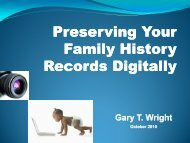 Preserving Your Family History Records Digitally