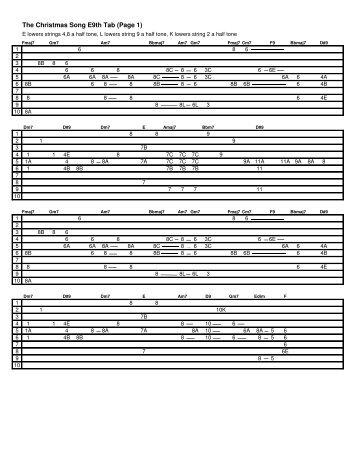 The Christmas Song E9th Tab.pdf - Greg Cutshaw