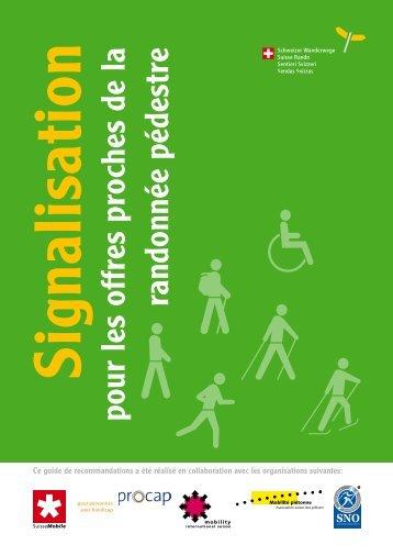 Signalisation pour les offres proches de la randonnée pédestre