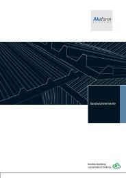 Sandwichelemente - Aluform System GmbH & Co. KG