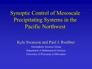 analysis uncertainty - University of Wisconsin MM5 Real Time ...