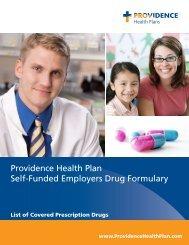 Providence Health Plan Self-Funded Employers Drug Formulary