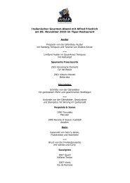 Italienischer Gourmet-Abend mit Alfred Friedrich am 06 ... - Tigerpalast
