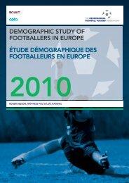 demographic study of footballers in europe étude démographique ...