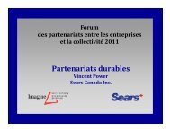 Partenariats durables - Imagine Canada