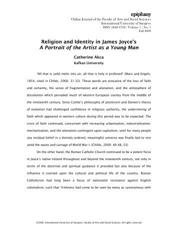 Religion and Identity in James Joyce's A Portrait of the Artist as a ...