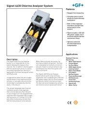 Signet 4630 Chlorine Analyzer System - Instrumart
