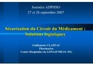 Securisation Circuit Medicament Logistique Clapeau.pps - ADIPh