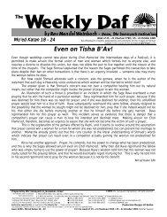 Weekly Daf - Ohr Somayach