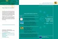 ESF-Flyer (pdf - 228.86 KB) - Europäischer Sozialfonds in Bayern