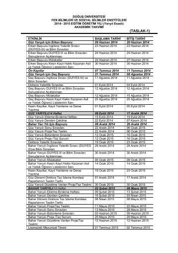 Enstitüler - Doğuş Üniversitesi
