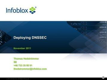 Deploying DNSSEC - Stallion
