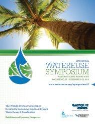 Exhibitor and Sponsor Prospectus - WateReuse Association