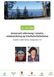 Universell utforming i reiseliv, stedsutvikling og friluftsliv/folkehelse