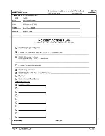 Unit 6 Incident Action Plan - I-Suite Main Page