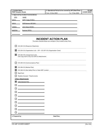 Unit  Incident Action Plan  ISuite