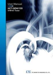 HCT-SDH-155 Manual