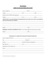 Home Occupation Permit - City of Auburn