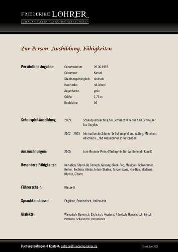 Auswahl - Friederike Lohrer