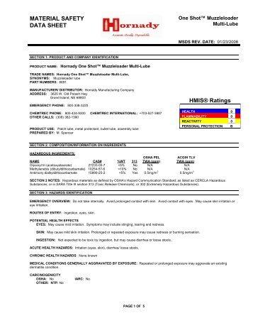 One Shot Muzzleloader Multi-Lube - Hornady.com